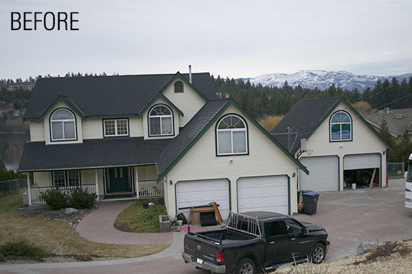 Front Elevation Before And After : Award winning design and renovations big valley homesbig